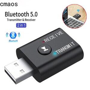 2 в 1 USB беспроводной Bluetooth адаптер 5,0 передатчик Bluetooth для компьютера телевизора ноутбука динамика гарнитуры адаптер Bluetooth приемник