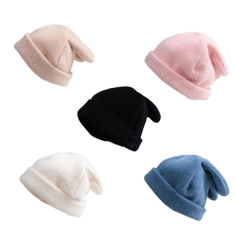 Rabbit Ears Hat Women Autumn And Winter Knitted Wool Hat Winter Warm Korean Version Of Japanese Hat