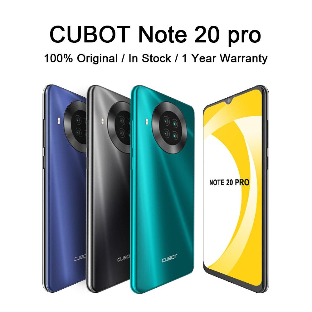 Перейти на Алиэкспресс и купить CUBOT Note 20 Pro смартфон 8 ГБ 128 сзади Quad Камера 12MP NFC 6,5 ″ HD Дисплей Android 10 мобильных телефонов 4200 мАч