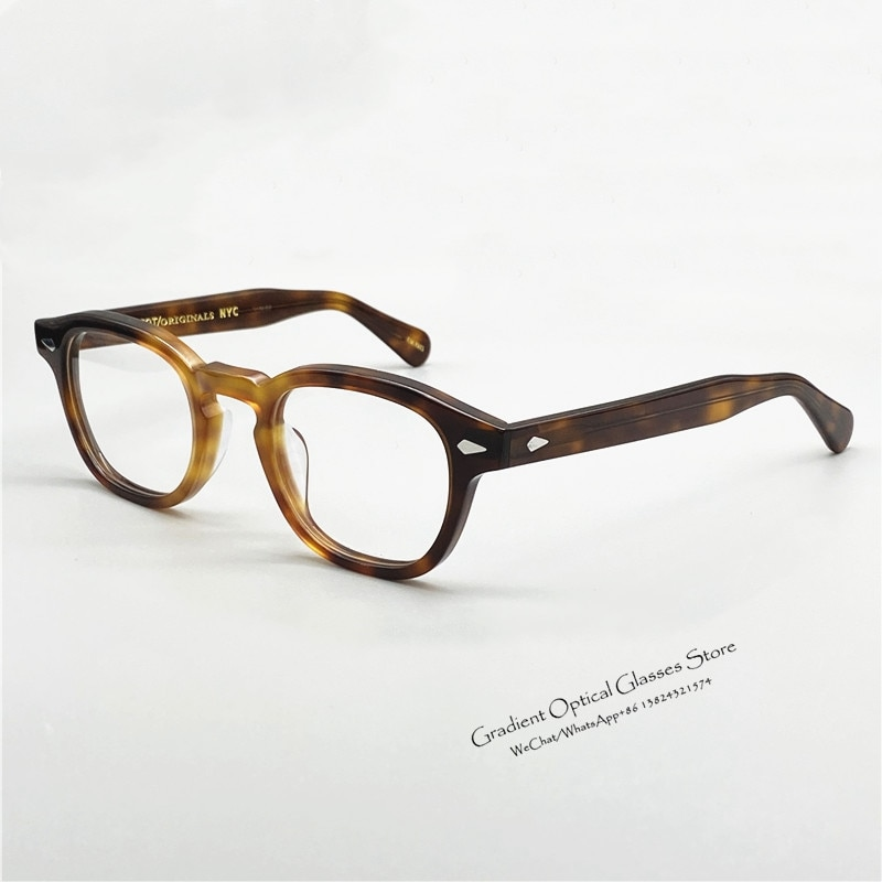 Pirate Captain Johnny Depp LEMTOSH Original Quality Acetate Oval Glasses Frame Men and Women Myopia Prescription Reading Glasses