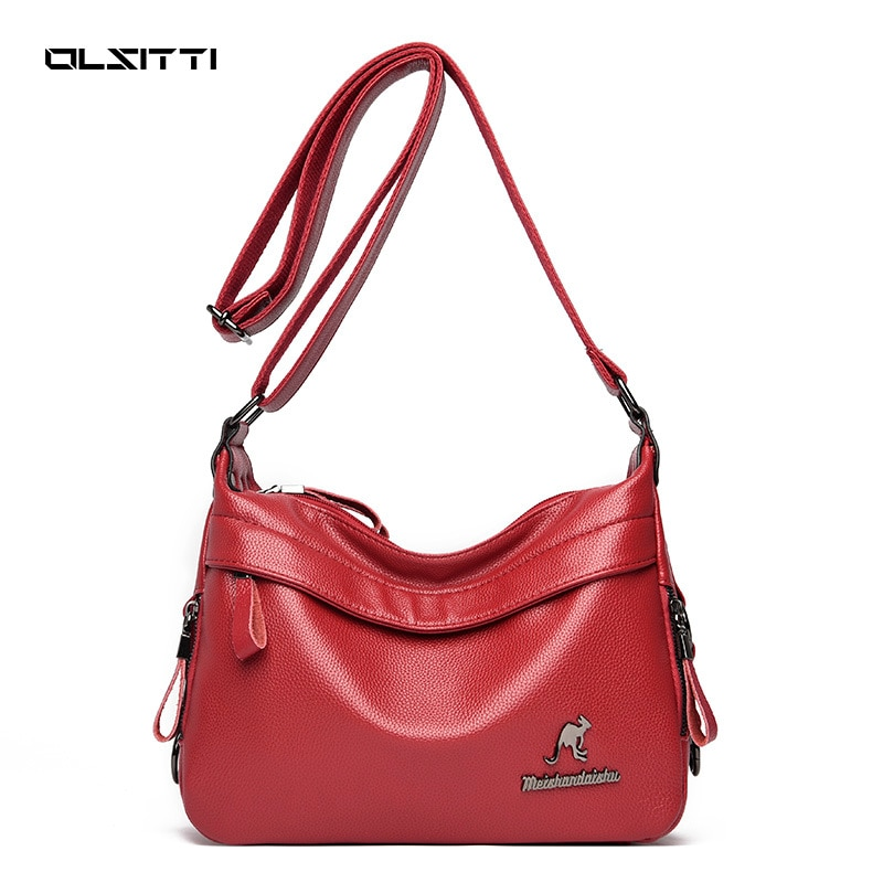Retro High Quality PU Leather Luxury Shoulder Bags for Women 2021 New Designer Ladies Crossbody Bags