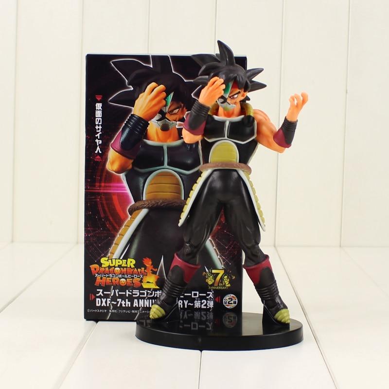 DXF Dragon Ball Super Hero Action Figure Masked Saiyan Bardock Burdock 7th Anniversary Model Doll