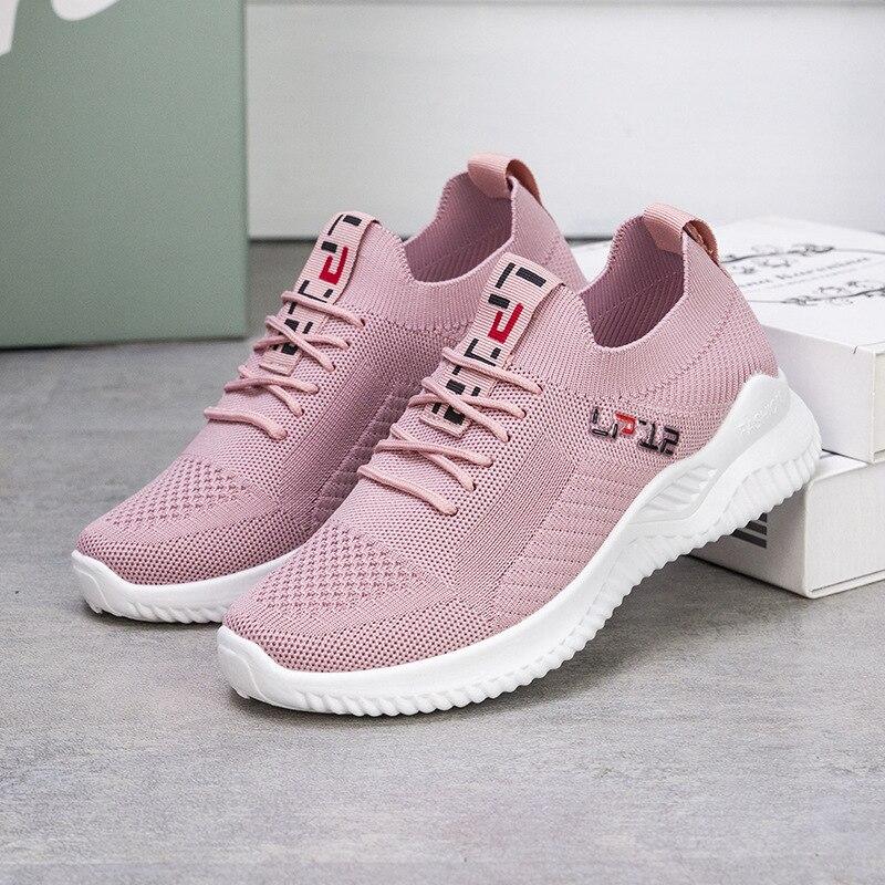 새로운 여성 가황 신발 캐주얼 스니커즈 가벼운 메쉬 플랫 통기성 피트니스 체육관 야외 여행 로퍼 스포츠 러닝, 2021