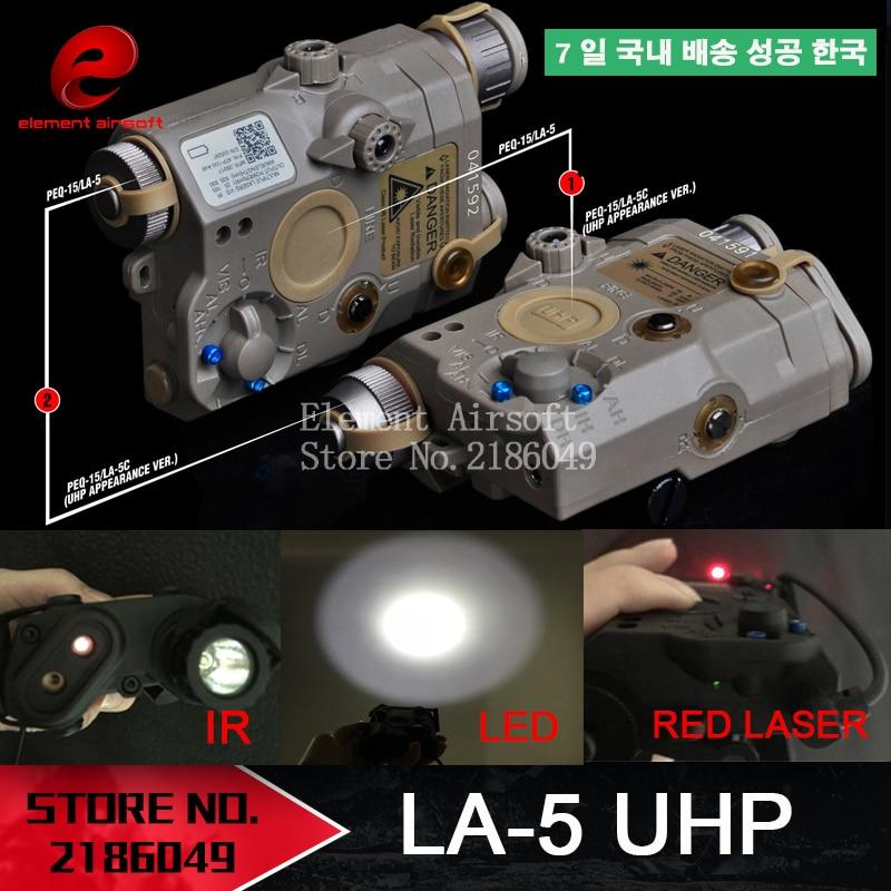 Element Airsoft LA-5 Red Laser IR Laser LED   Appearance Version LA5 IR Laser PEQ15 Red Laser Tactic
