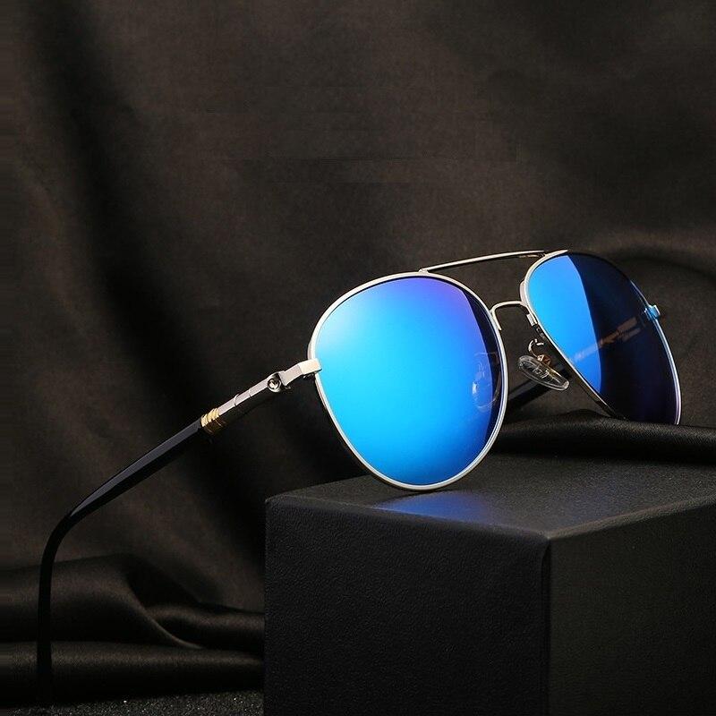 Mens Polarized Sunglasses Men Women Driving Pilot Vintage Sun Glasses Brand Designer Male Black For Man UV400