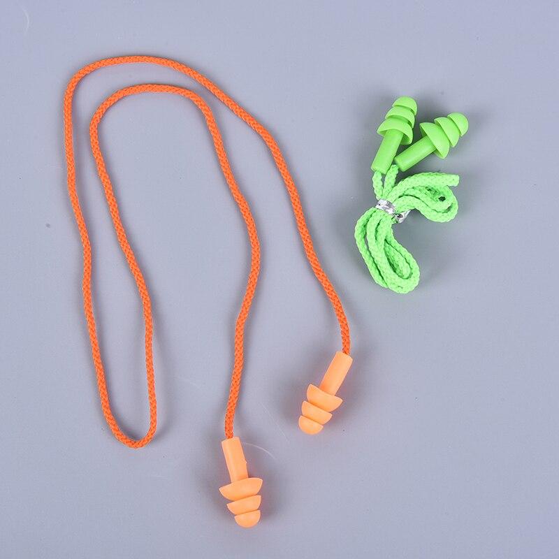 Комплект из 2 предметов, мягкие носки с противоскользящим покрытием, Шум затычка для ушей Водонепроницаемый плавательный силиконовые ушные затычки для плавания, способный преодолевать Броды для взрослых детей пловцов для дайвинга с веревкой, комплект из 2 предметов-3