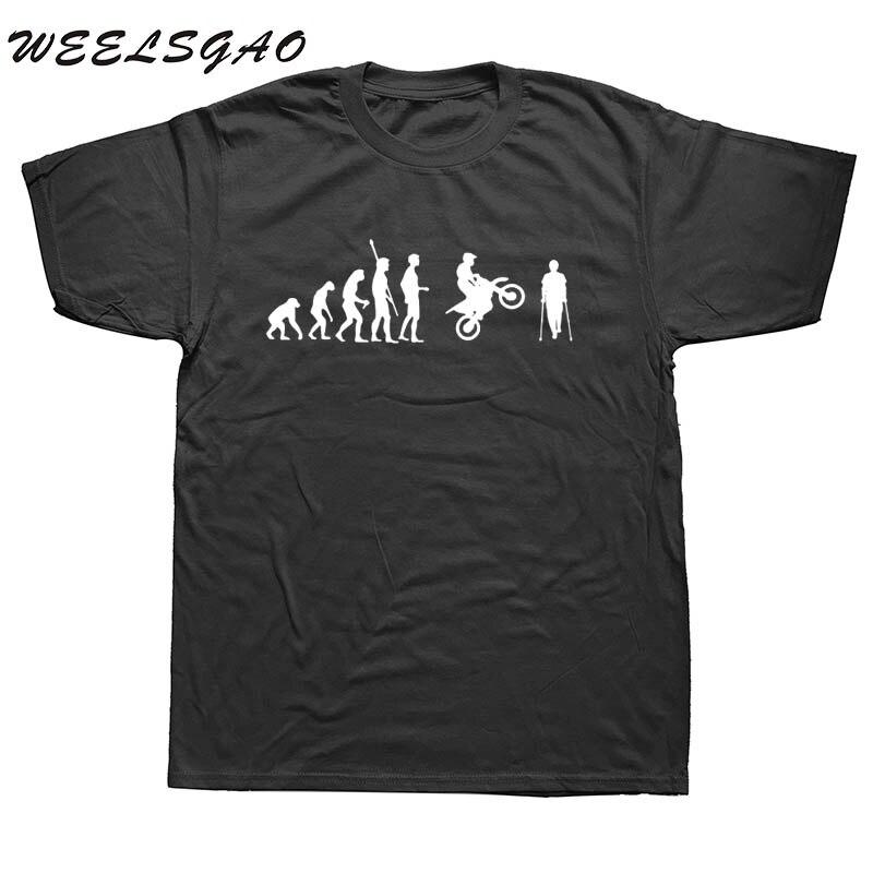 WEELSGAO verano evolución motocicleta accidente camisetas hombres diseño divertido manga corta algodón o-cuello Motor camisetas