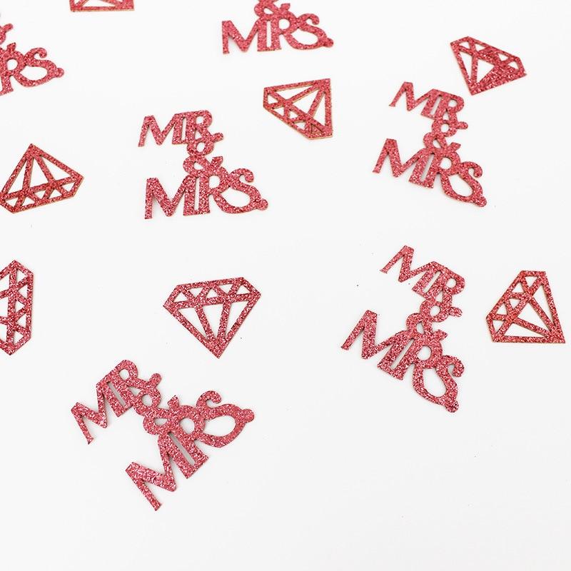 Mr & mrs sinal confetes balão de noivado casamento querida mesa topo peça central chá de panela decoração lugar cartão presente