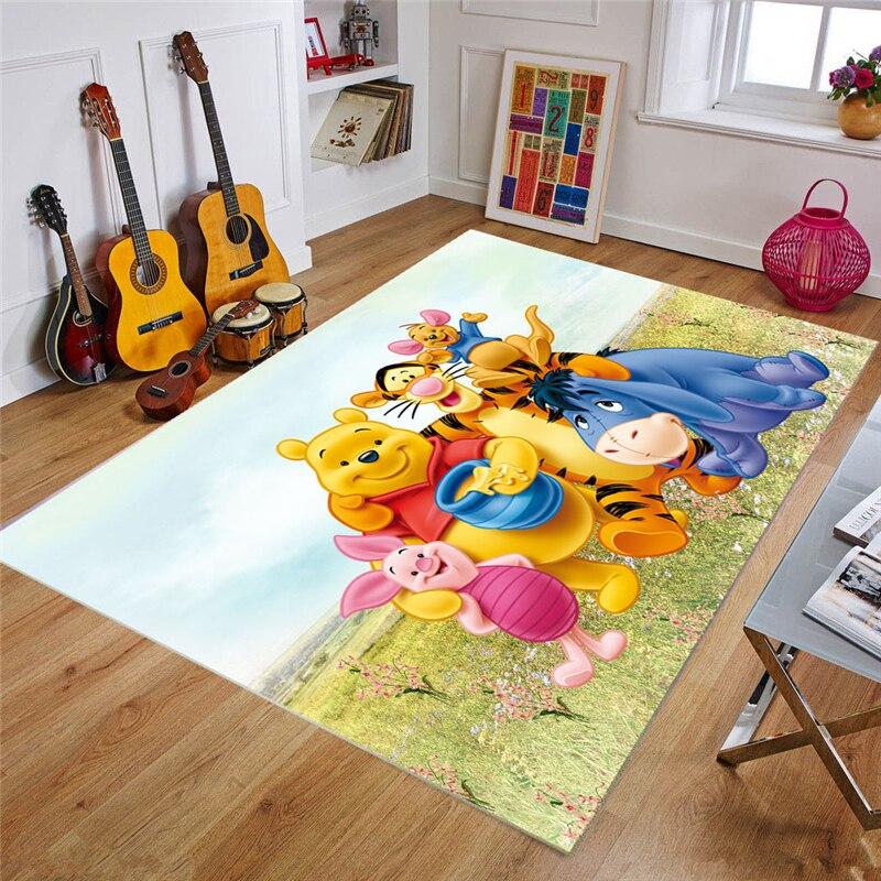 Детский игровой коврик Disney 80x160 см, коврики для детей, спальни, дома, гостиной, нескользящий коврик, напольный коврик, большие коврики