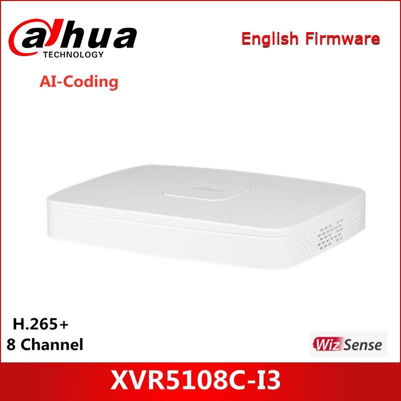 داهوا 8 قناة بنتا brid 5M-N/1080P الذكية 1U 1HDD WizSense مسجل فيديو رقمي XVR5108C-I3 يدعم كامل القناة AI-Coding