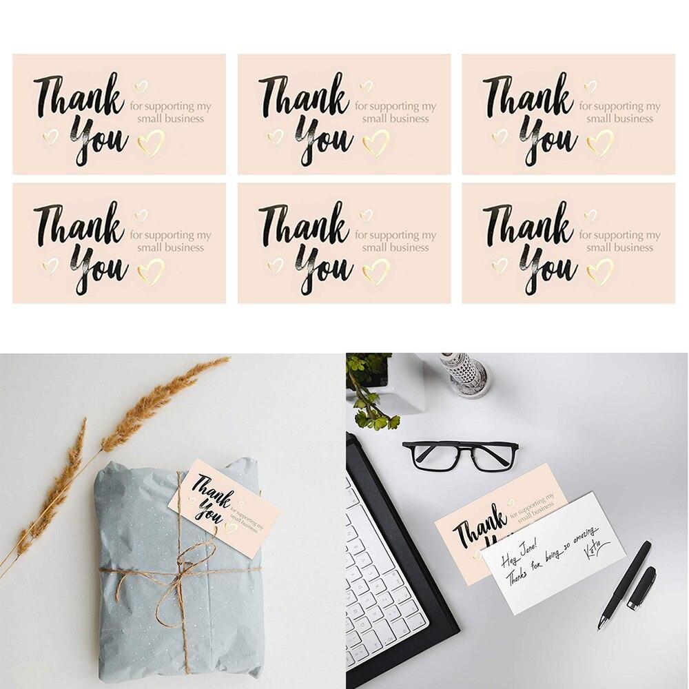 50 листов/набор 5*9 см Rosegold поздравительная открытка спасибо бизнес шоппинг Упаковка Украшение подарок спасибо карта