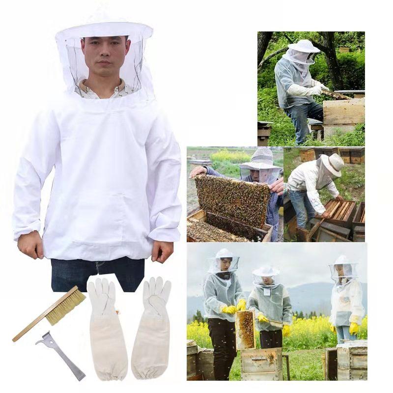 تربية النحل النحل دعوى سترة و قفازات و خلية النحل فرشاة و مكشطة خلية النحل أداة النحال مجموعة