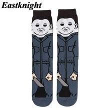 K1379 1 คู่ MICHAEL Myers ใหม่แฟชั่นผู้ชายผ้าฝ้ายถุงเท้าที่มีชื่อเสียงภาพยนตร์สยองขวัญฮาโลวีนถุงเท้า ...