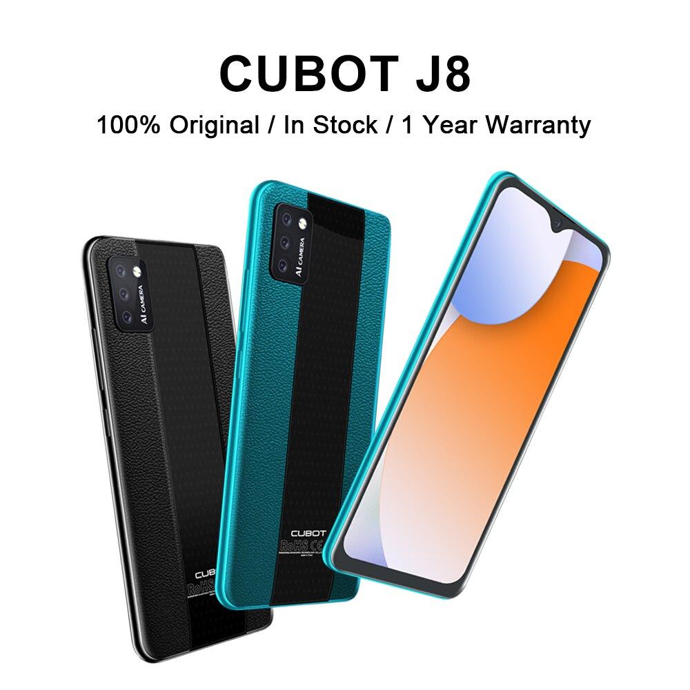 Перейти на Алиэкспресс и купить Оригинальный Cubot J8 смартфон 5,5 Inch в виде капли воды, Экран 3100 мА/ч, Батарея задние тройные Камера Android 10 маленький дешевый Фильтр-пакет для сот...