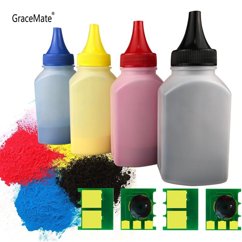 4 Color Toner Powder + 4 Chip CF350A 130A CF350 Toner Cartridge for HP Color LaserJet Pro MFP M176n MFP M177fw Laser Printer