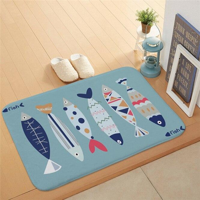 10pcs Cartoon fish Doormat Baby Bedroom Carpet for Bedroom Kitchen Door Decorative None-slip Doormat Home decoration enlarge