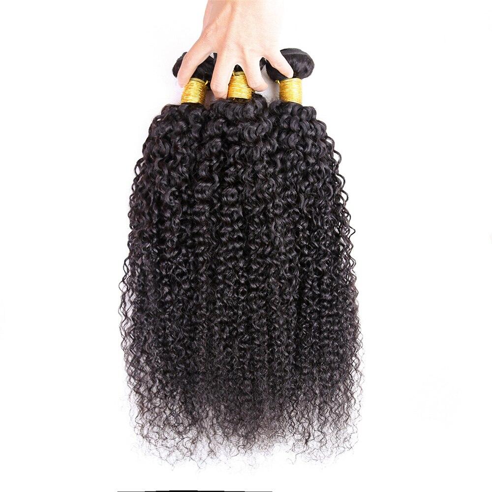 Mongolian Kinky Curly Human Hair Cheap Hair Bundles 3/4 pcs Hair Weaves Natural Color 100% Human Hair Extensions