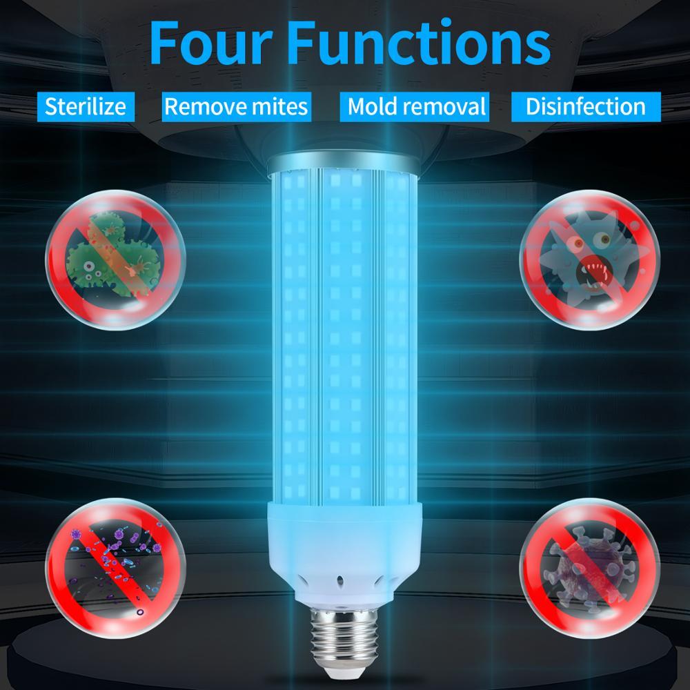 YWD 50W Lámpara Germicida UV Led UVC bombilla E26/E27 acuario Accesorios piscinas...