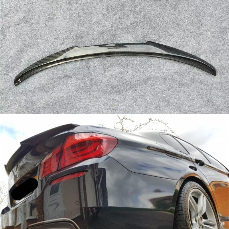 استخدام جناح خلفي من ألياف الكربون لسيارة BMW 5 Series F10 ، مجموعة ملحقات هيكل السيارة الرياضية ، موديل M4 من 2010 إلى 2017