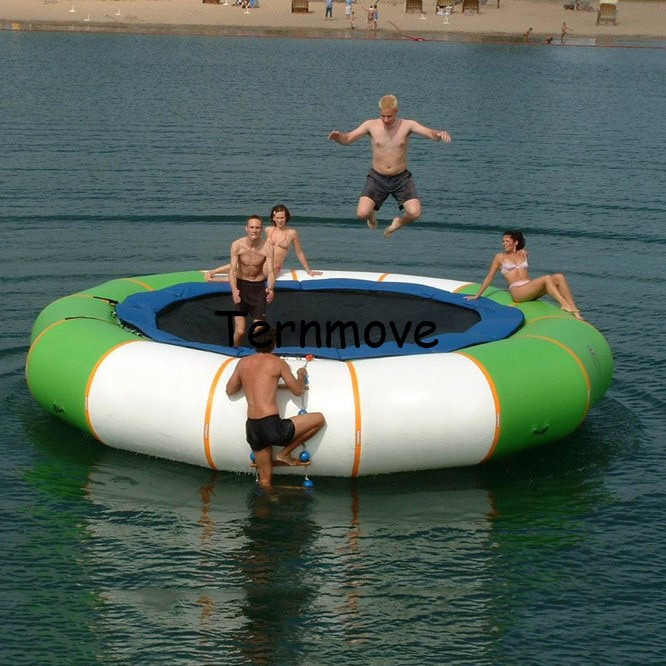 Trampolín inflable de pvc para saltar, trampolín de gimnasia, trampolín inflable para saltar, parque de agua flotante