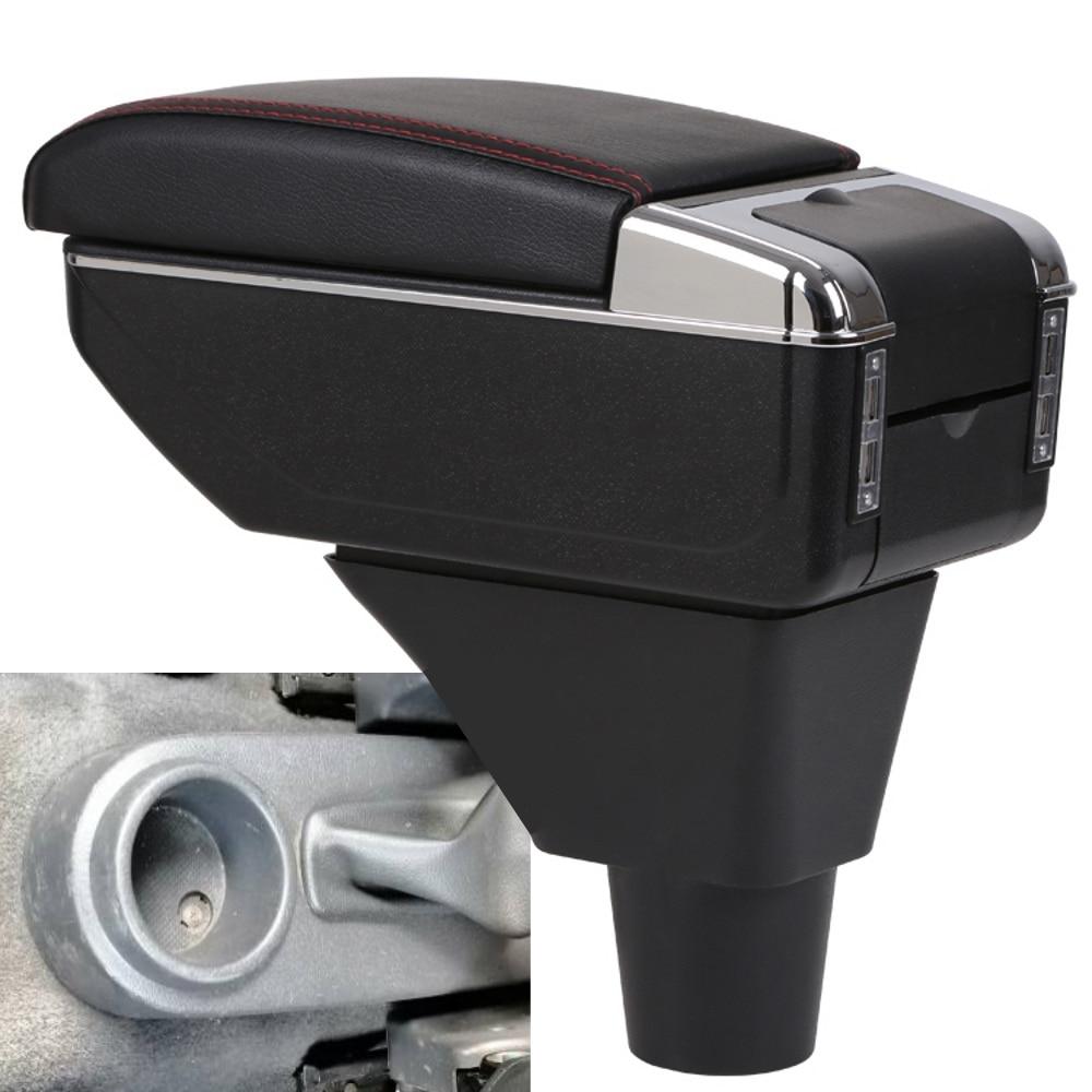 Para Chevrolet Aveo five T200 / T250 soporte giratorio superior de cuero consola central caja de almacenamiento apoyabrazos