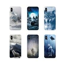 Pour Oneplus 3 5 6 7 T Pro Nokia 2 3 5 6 8 9 230 2.1 3.1 5.1 7 Plus 2017 2018 Transparent TPU Housse sauvage loup de neige montagne