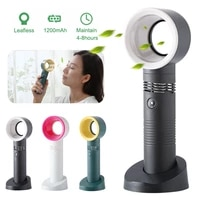 rechargeab usb bladeless fan handheld desktop summer mini air cooler no leaf ultra quiet fans for travel outdoor