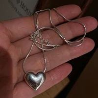 exquisite silver color heart pendant necklace for cocktail party womens chain necklace bridal necklace wedding jewelry gifts