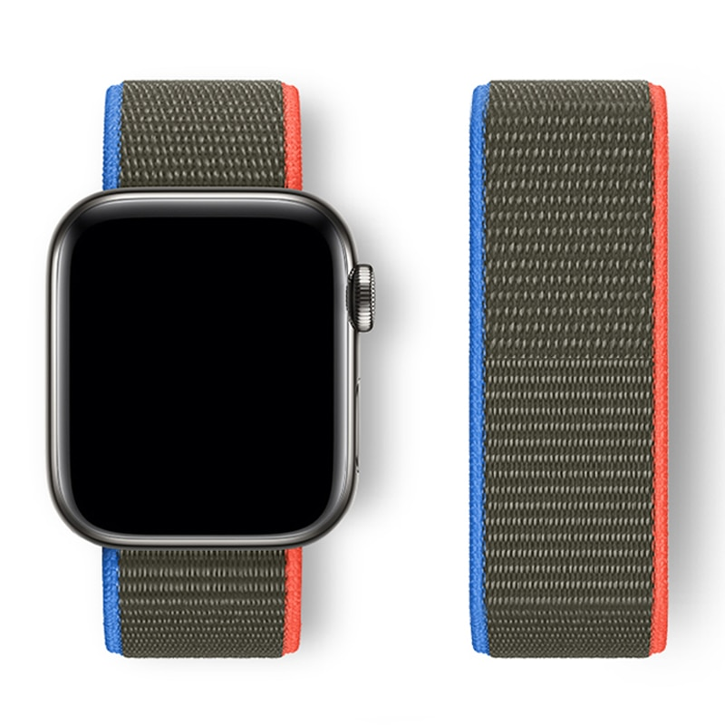 sport nylon fabric watch band for apple watch 38mm 42mm strap soft watch loop for iwatch 5 4 3 2 1 watchband for iwatch bracelet Nylon For Apple Watch band 44mm 40mm 42mm 38mm iwatch Series SE 7 6 5 4 3 Sport Loop watchband Bracelet correa Apple watch Strap