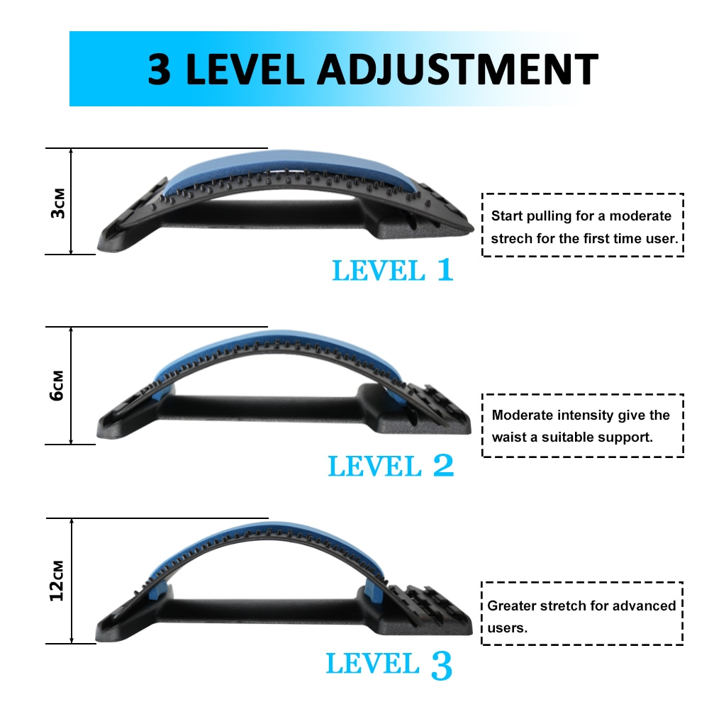 Back Massager Stretcher Equipment Massage Tools Massageador Magic Stretch Fitness Lumbar Support Relaxation Spine Pain Relief
