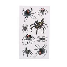 1 pièces imperméable à leau temporaire tatouage autocollant araignée transfert Cool corps Art décor Halloween mascarade fête cadeau