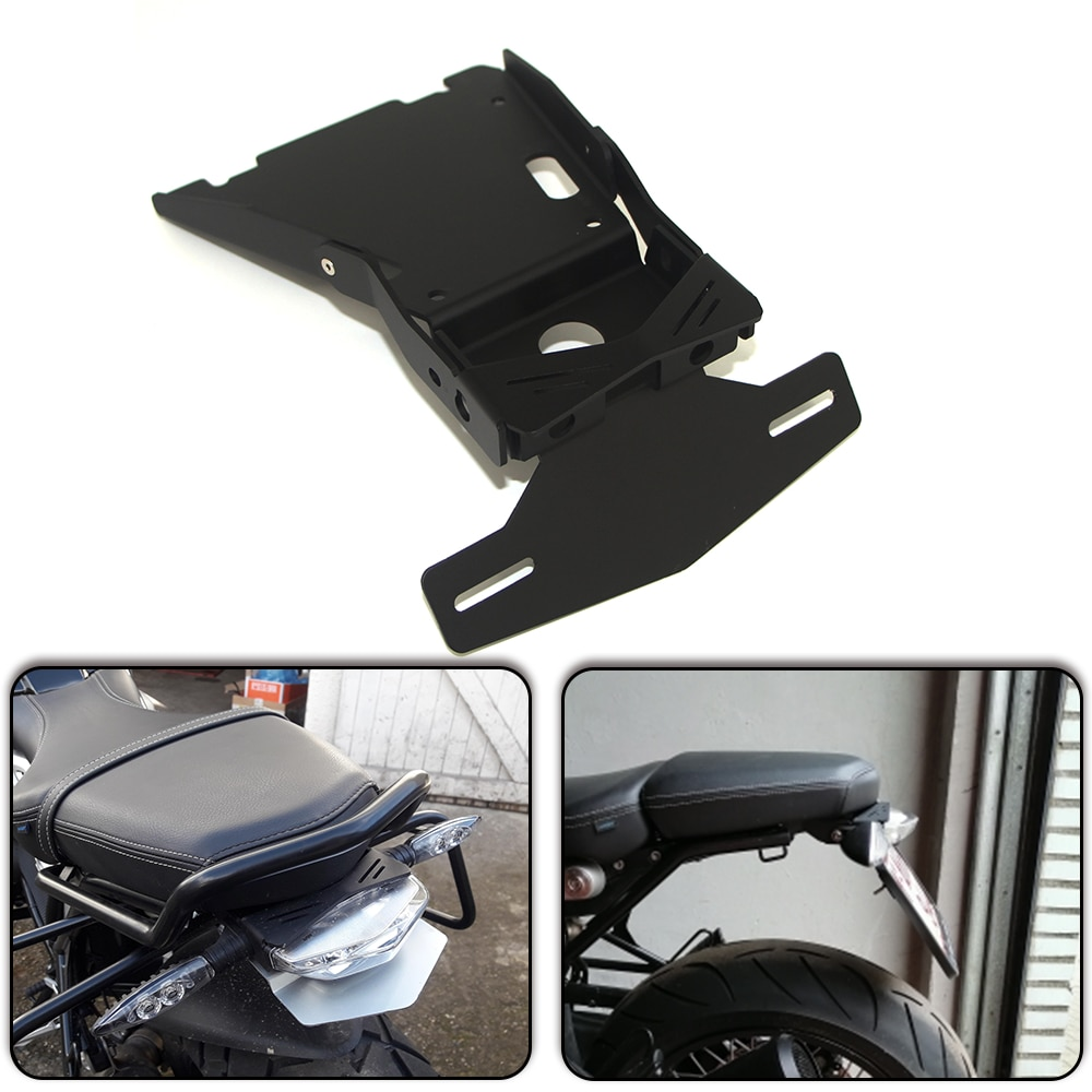 Para BMW R NINET R NINE T R9T Racer Scramble urban 2014 2015-2019 motocicleta trasera montaje de matrícula soporte marco de soporte