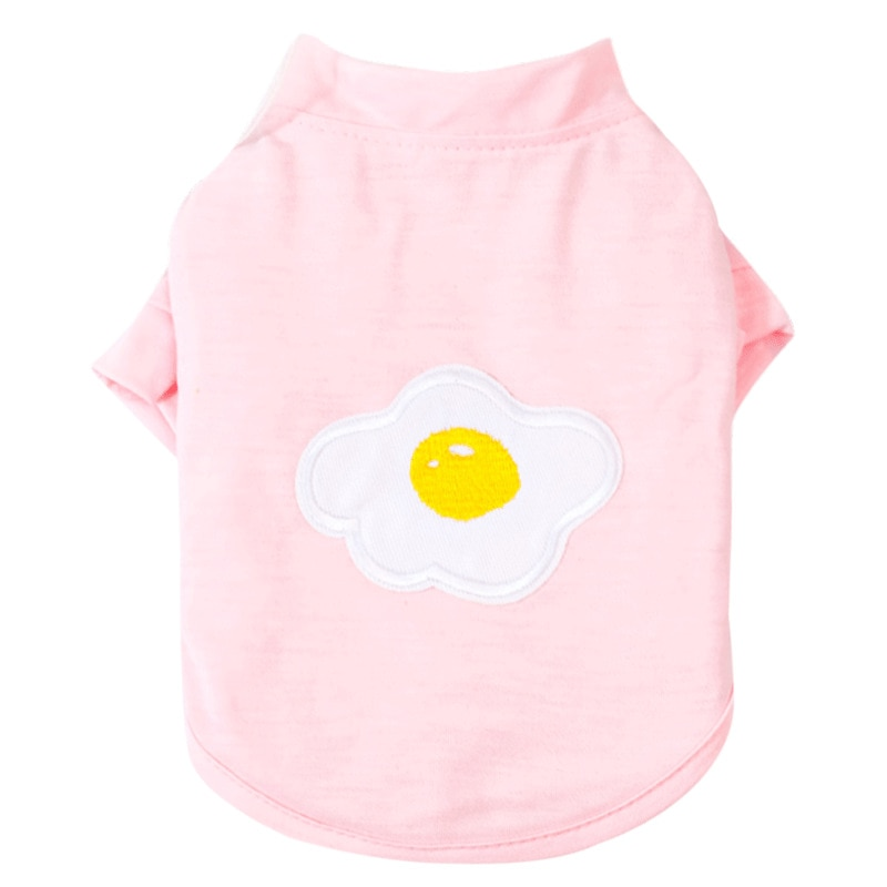 Puppy Egg Printing T-shirt Pet Dog Cat Clothes Breathable Dogs Shirt Costume for Small Dogs Pets Coat Clothing For Pug Chihuahua