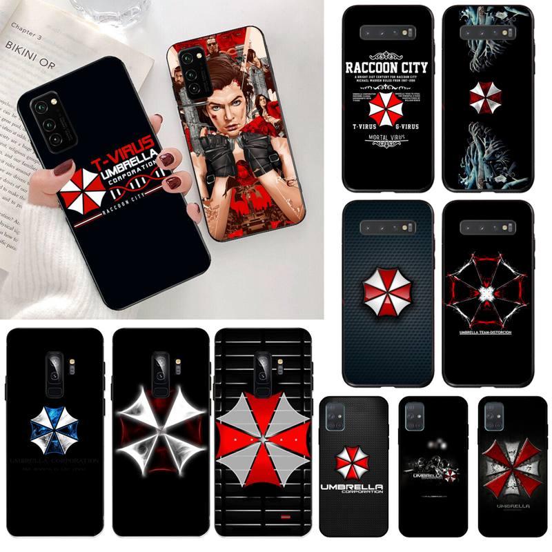 HPCHCJHM umbrella corporation TPU funda negra para teléfono, cubierta de casco para Samsung S20 plus Ultra S7 S6 edge S8 S9 plus S10 5G lite 2020