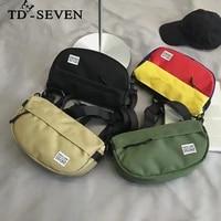 men and women single shoulder bag fan shaped multicolored letter nylon messenger bag shoulder bag trendy oxford cloth bag