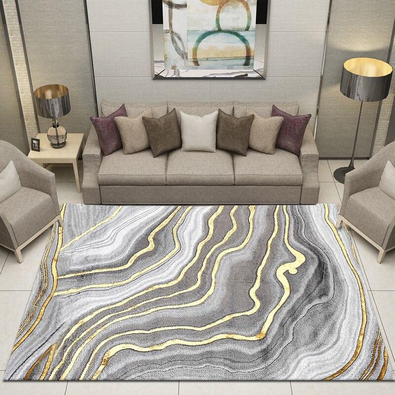 Alfombra nórdica De lujo moderna, Alfombra De centro De diseño para Sala De estar, Tapete grande suave geométrico para decoración del hogar AD50CA