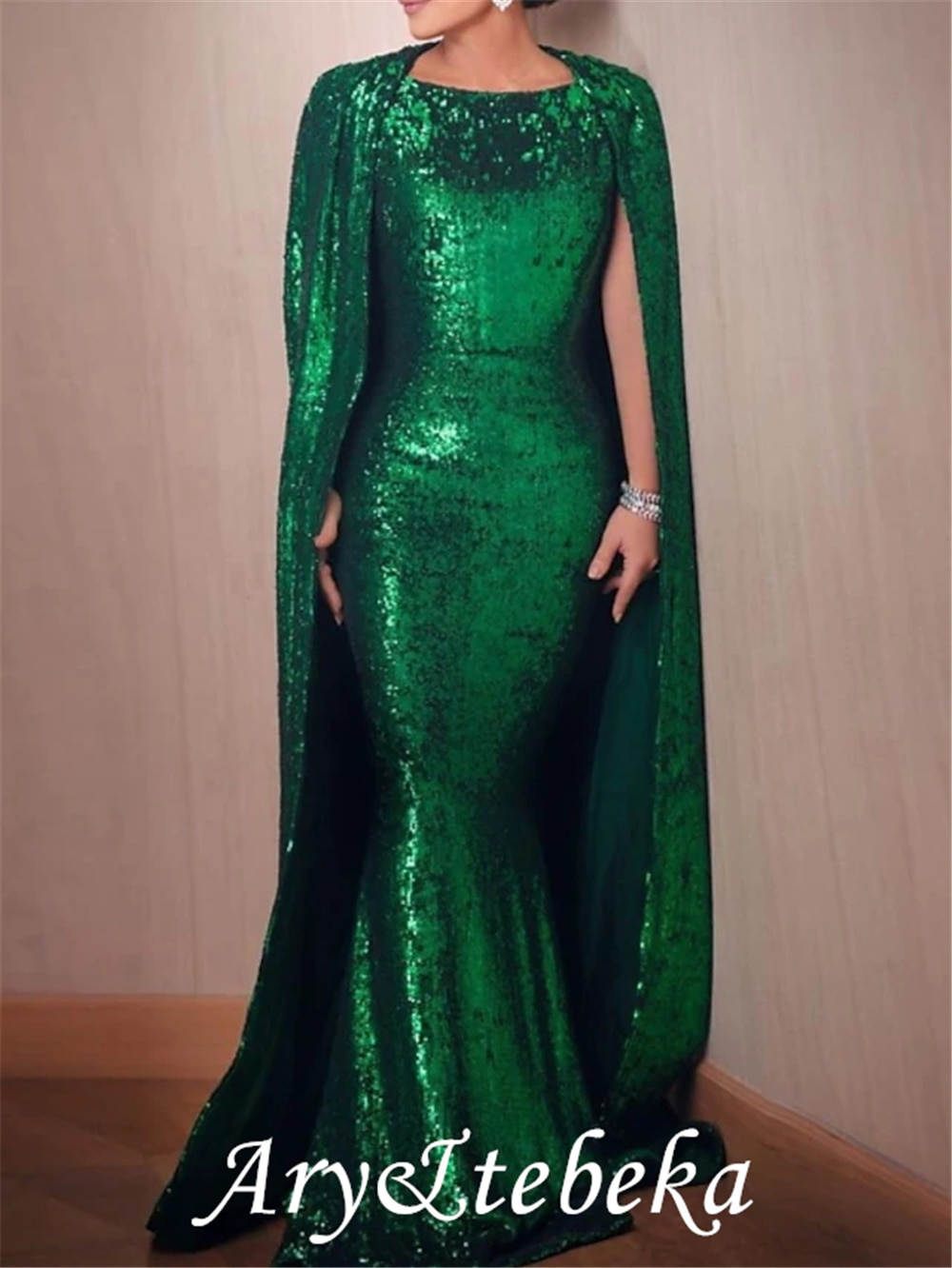 Sparkle Sexy Engagement Formal Evening Dress Jewel Neck Sleeveless Sweep / Brush Train Sequined with Sequin 2021