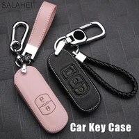 leather car key cover case for mazda 2 mazda 3 mazda 5 mazda 6 cx 3 cx 4 cx 5 cx 7 cx8 cx 9 cx30 cx 302019 2020 atenza axela mx5