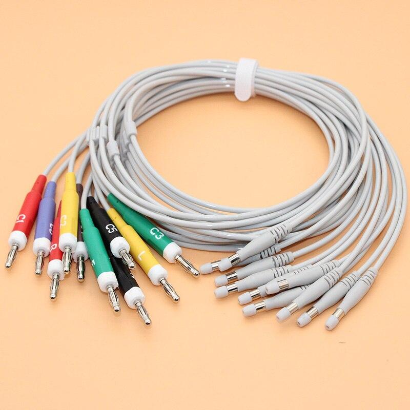Comaptible con Welch Allyn CP100 CP 200 CT100 ECG 10-plomo leadwire 401129 cable con AHA/IEC tipo