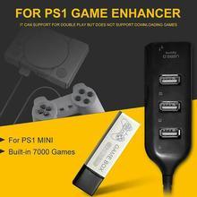 Enfants 128G jeu rehausseur Source simulateur extension Pack intégré 7000 jeux pour PS1 Mini DN boîte de jeu accessoires durables