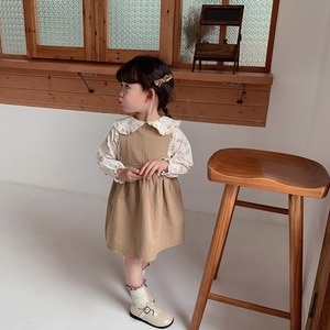 2021 New Spring summer girl cotton vest Princess dresses baby children kids casual stitching birthday party dresses