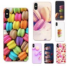 Macarons gâteau pour Samsung Galaxy A51 A71 A81 A90 5G A91 A01 S11 S11E S20 Plus étuis de téléphone portable Ultra souples