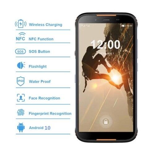 Original HOMTOM HT80 IP68 Waterproof Smartphone 4G LTE Android 10 Cellphone 5.5