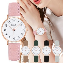 Fashion Ladies Belt Quartz Watch Casual Quartz Watch Matte leather elegant student Watch Reloj de pu
