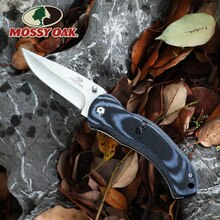 MOSSY OAK Folding Pocket Knife Camping Knife Stainless Steel Blade Micarta Handle Fruit Cutter for Outdoor Survival Knives