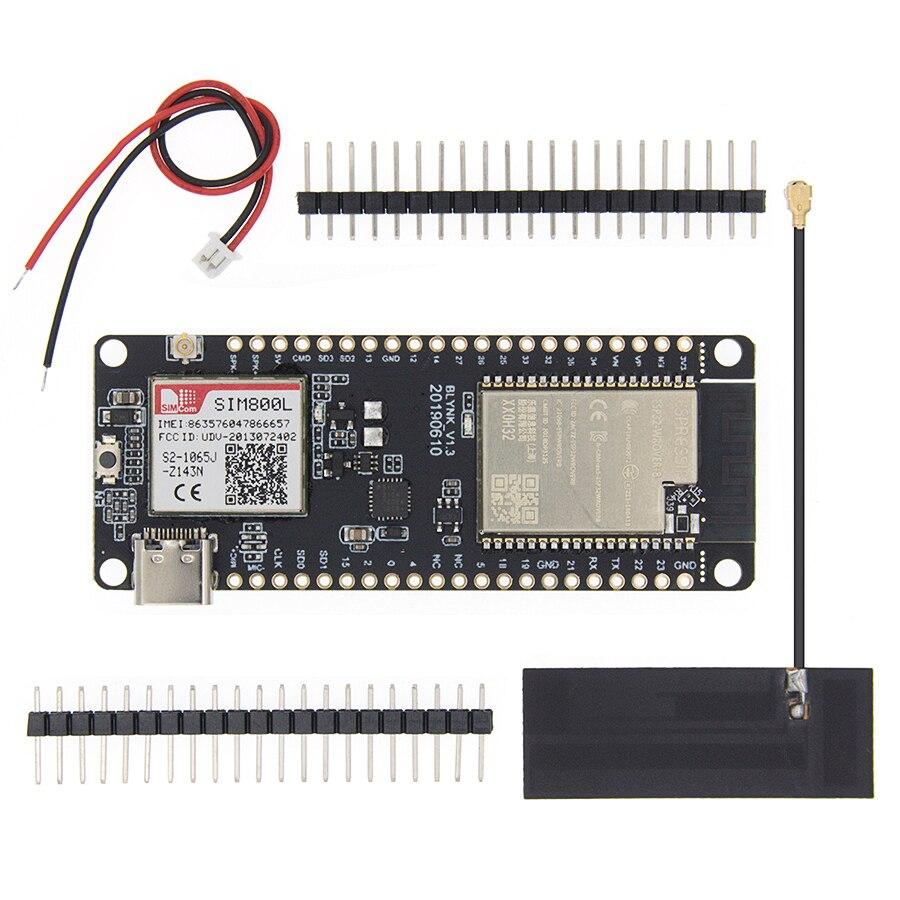 Hot TTGO t-call V1.3 ESP32 módulo inalámbrico GPRS antena SIM tarjeta SIM800L módulo ESP32-WROVER-B 2,4 GHz SIM800L Placa de desarrollo