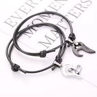 hot selling 1 pair of two pieces love stitching adjustable couple bracelet korean wax thread hand strap gift kpop bracelets
