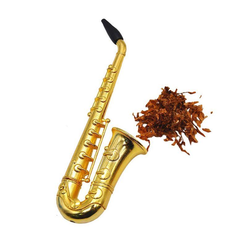 Único saxofón Mini para fumar portátil pipas pipa de Metal para fumar tabaco Hookah regalos
