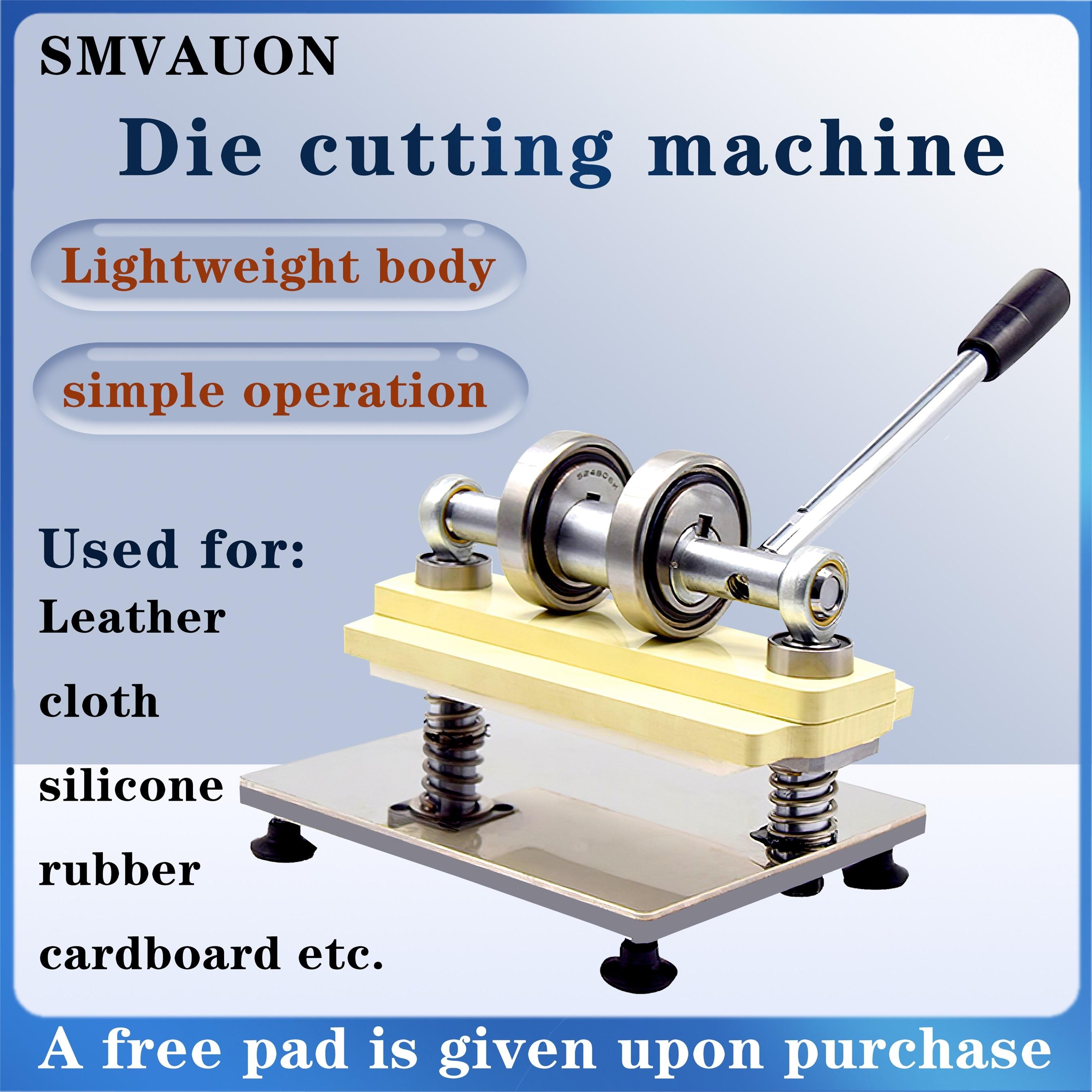 عجلة مزدوجة اليد ماكينة قطع الجلد ورق طباعة الصور آلة قطع الألواح المعدنيّة لتقوم بها بنفسك الجلود الصغيرة دليل الضغط يموت آلة قطع