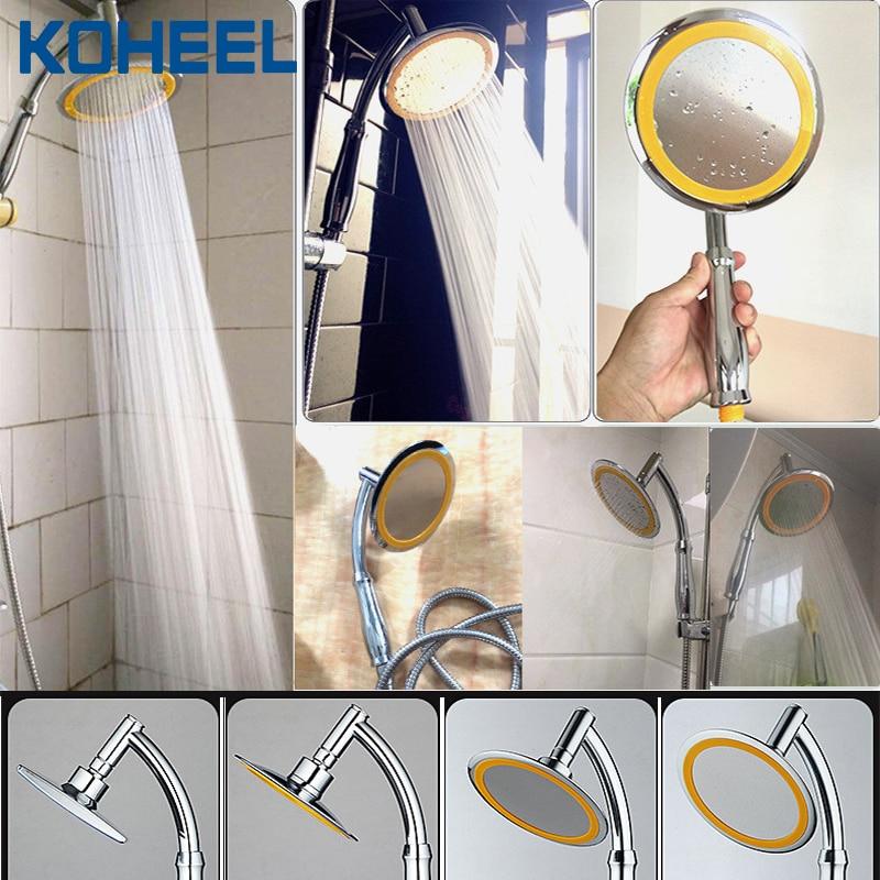 Cabezal de ducha de 6 pulgadas ducha de lluvia de alta presión ducha de baño ahorro de agua ducha manual spa superior